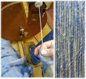 plukjes jeans met wol