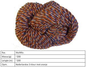 NL 3 kleur met oranje 200 gram