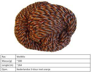 NL 3 kleur met oranje 300 gram