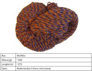 NL 3 kleur met oranje 375 gram